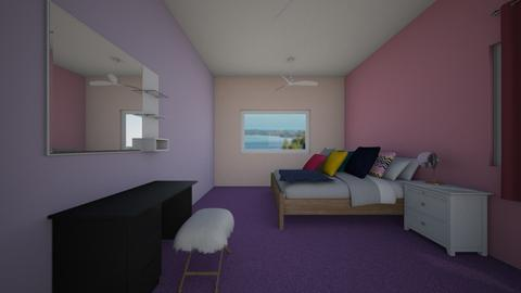colorfull bedroom - Bedroom - by martuks