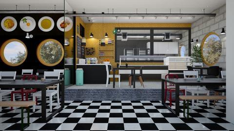 Urban School Canteen - Modern - by LipshitzSeiden Elinor