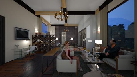 2880 SF LIVING HM OFFICE - Modern - Living room  - by decordiva1