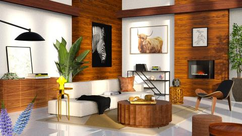 wooden wall - Modern - Living room  - by RimaNina