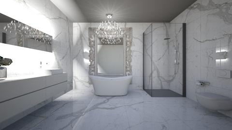 All Marble Bathroom - Modern - Bathroom - by Christine Ward_877