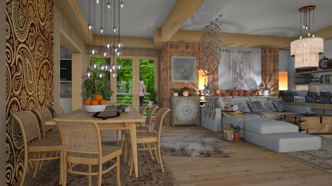 natural boho  - Eclectic - Living room  - by Ida Dzanovic
