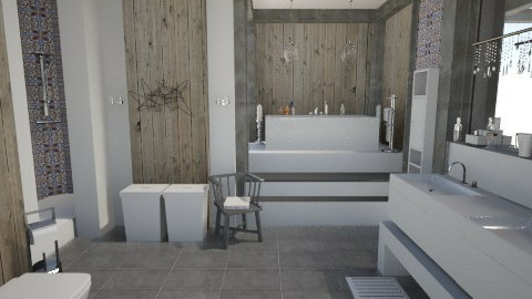CottageBathroom - Rustic - Bathroom  - by StienAerts