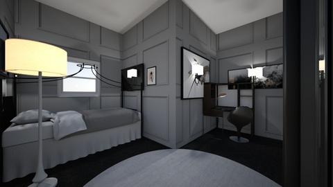 boy rooms black - Modern - Bedroom  - by nhue