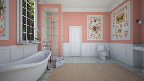 Pink Bath - Bathroom  - by sissybee