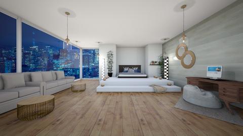modern bedroom - Bedroom  - by ZoeyMatt