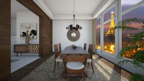 Modern Dining with View 1 - Dining room - by janelle1