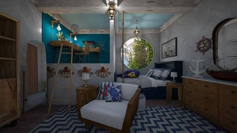 Nautical - Kids room  - by June Thomas