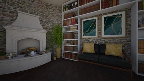 fireplace and relax - Rustic - Living room  - by Adelinee