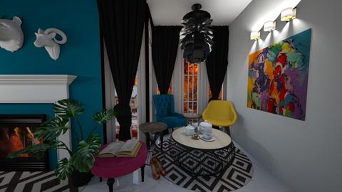Comfy Colour Living - Eclectic - Living room  - by MackenziePaige