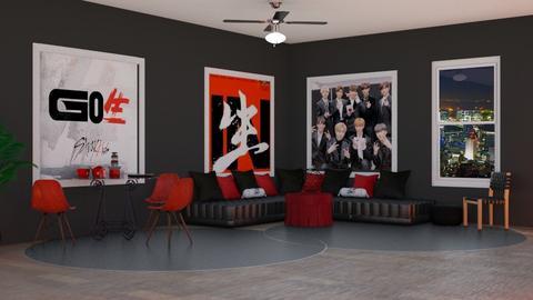Stray Kids Room - Global - Living room  - by Drama Llama