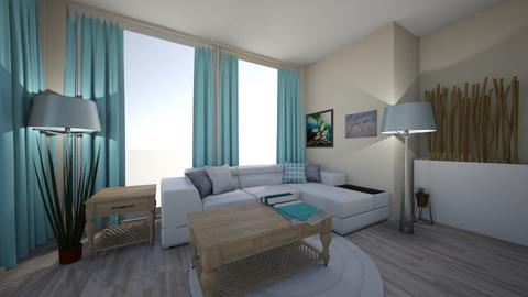 Beachfront Living Room - by Sprinter in Blue