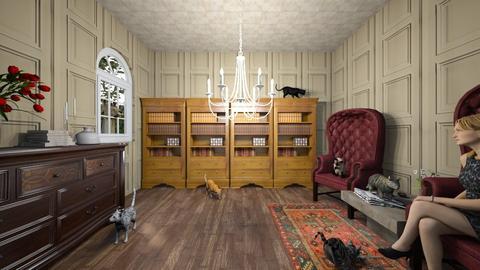 Cat lady - Classic - Living room  - by Kolach