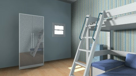 Boys Bedroom  - Retro - Kids room  - by charloldfield