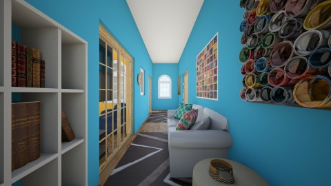 hallway - Living room - by sillylily1705