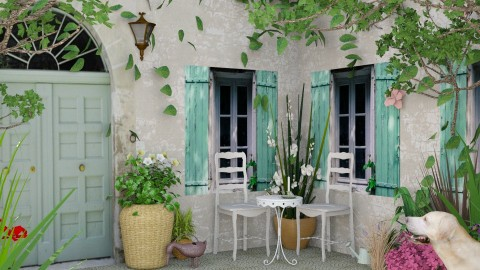 Design 126 Provence Vignette 2 - Garden  - by Daisy320
