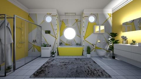 Yellow Bathroom - Modern - Bathroom  - by laurenpoisner