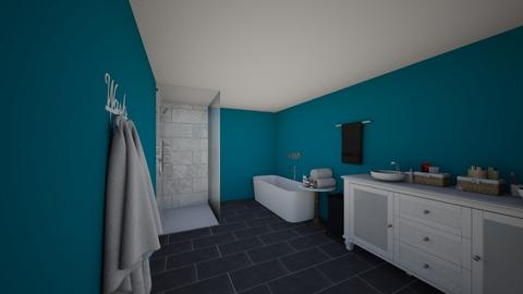blue bath  - Modern - Bathroom - by ELLAM15