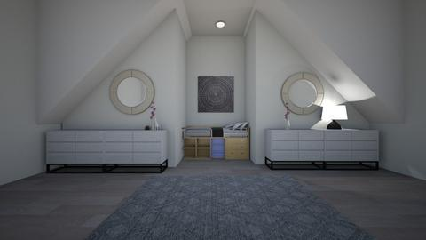 Sloping ceiling  - Bedroom  - by Idkwhy