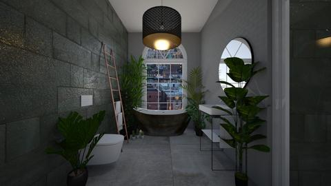 urban jungle bathroom - Modern - Bathroom - by ellejay_1207