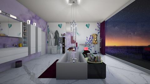 Lavender bathroom - Bathroom  - by bluedolphin12