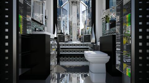 Compact Geo Glam Bathroom - Bathroom  - by dZynerSuPreme