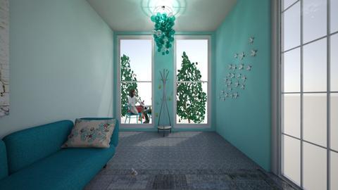 Hall way _ 1a - Retro - Living room - by AZ_Makro
