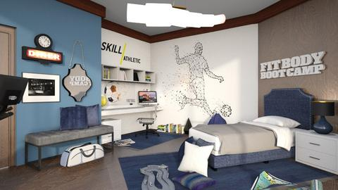 Sports Fan Bedroom - by matina1976