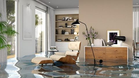 Flooded chair and a glass - Modern - Living room  - by itsbinflooded