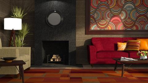 Tapestry and Velvet 2 - Living room  - by GraceKathryn