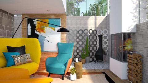 Tangerine - Modern - Living room  - by Brenda DeVries