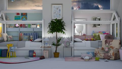 Twinsies Request - Modern - Kids room  - by Gurns