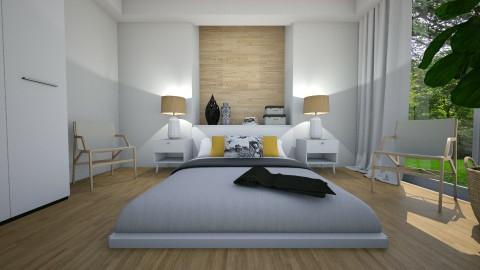 Bed on the floor - Modern - Bedroom  - by Tuija