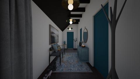 Welcoming Hallway Teal - by JarvisLegg
