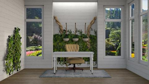 Office with Living Wall - Office - by katiebw