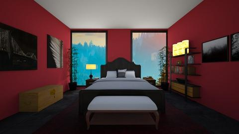 Black and red room - by Puppylover5673