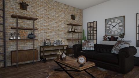 industrial meet country - Rustic - Living room  - by alkellett