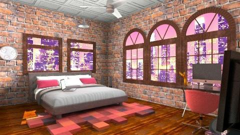 loft - Bedroom - by MystiqueNY