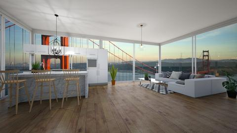 condo kitchen with view - Kitchen - by Abbs33