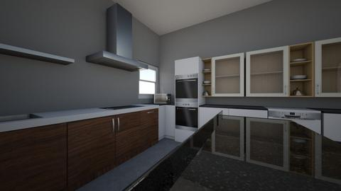 L shaped kitchen - Kitchen  - by heyitseliott