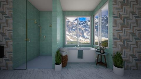 blues in the bathroom - by KierraClumdesign