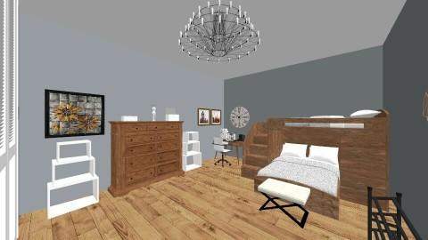 Teenagers Room - Retro - Bedroom  - by jessicalynnhine29