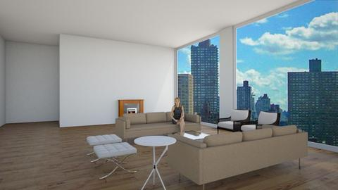 Van Der Woodson Penthouse - Living room  - by liron013
