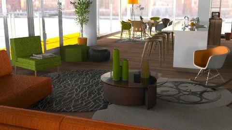 Granny Orange - Retro - Living room  - by Apple Juice