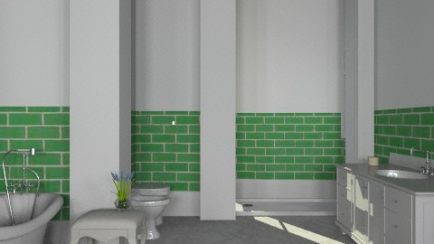 Moss Green2 - Classic - Bathroom  - by missblue