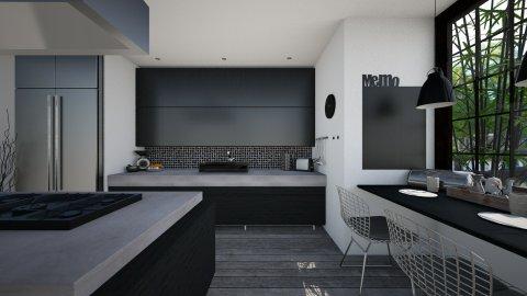 Black Kitchen - Kitchen  - by StienAerts