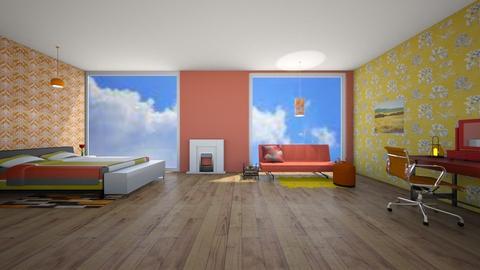 fire bedroom - Bedroom  - by 29catsRcool