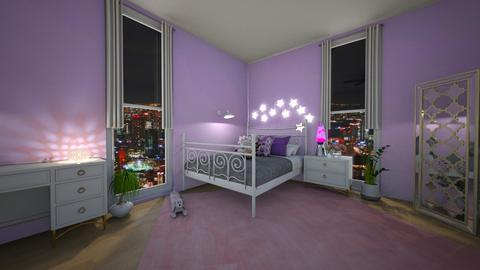 Pink and Purple Bedroom - Bedroom  - by Drama Llama
