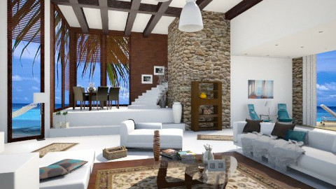 beach house  - Modern - Living room  - by Senia N