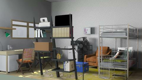 dorm triple - Rustic - Bedroom  - by fieldhockey14